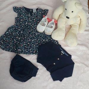 4/pcs Carter's baby girl dress /3 months